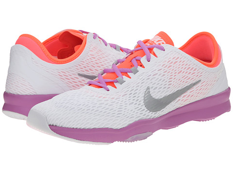 Nike - Zoom Fit (White/Fuchsia Glow/Hot Lava/Metallic Silver) Women's Cross Training Shoes