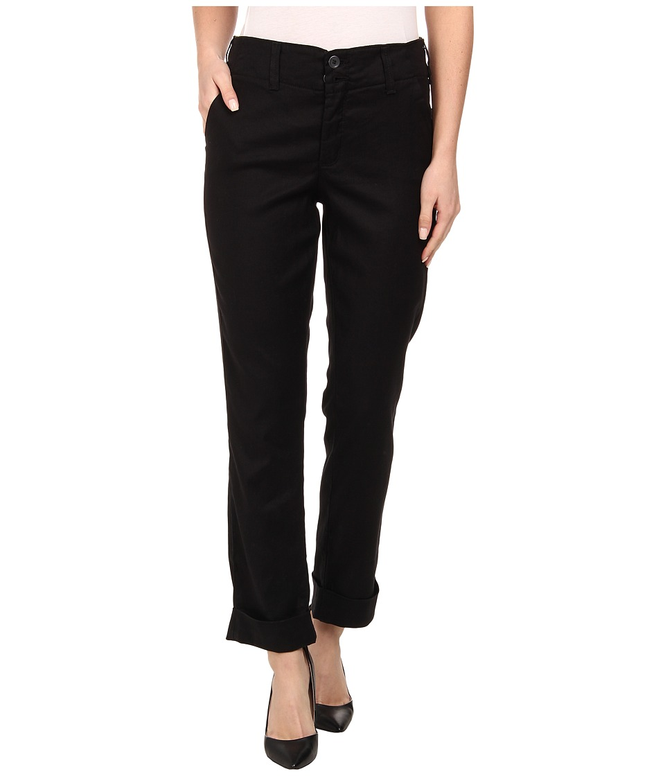 NYDJ - Leann Boyfriend Linen Pants (Black) Women's Casual Pants