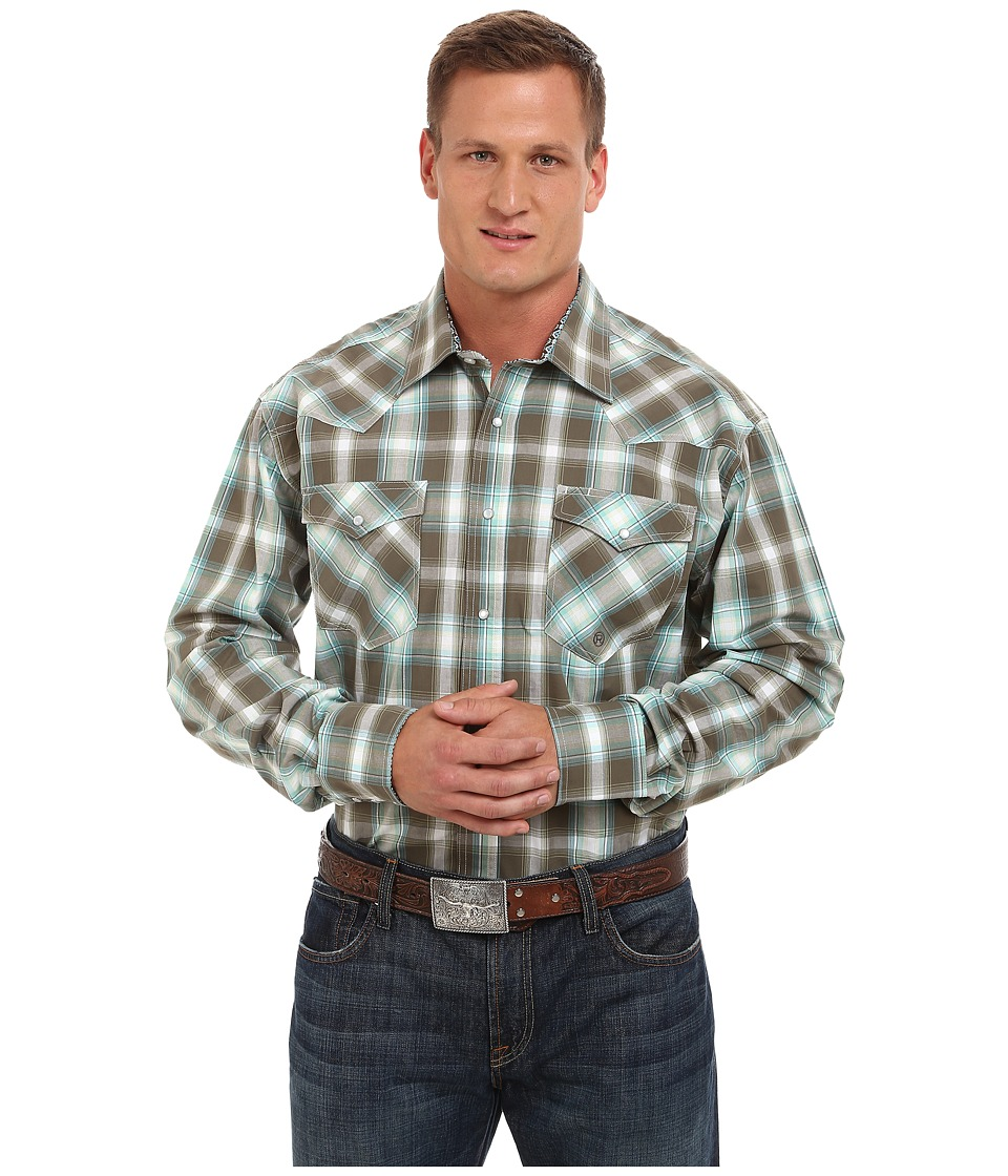 Roper - 9761 Ivy Plaid (Green) Men's Clothing