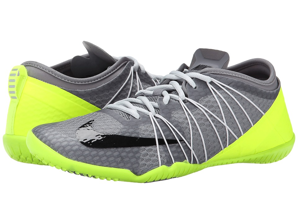 Nike - Free 1.0 Cross Bionic 2 (Cool Grey/Volt/Pure Platinum Black) Women's Cross Training Shoes