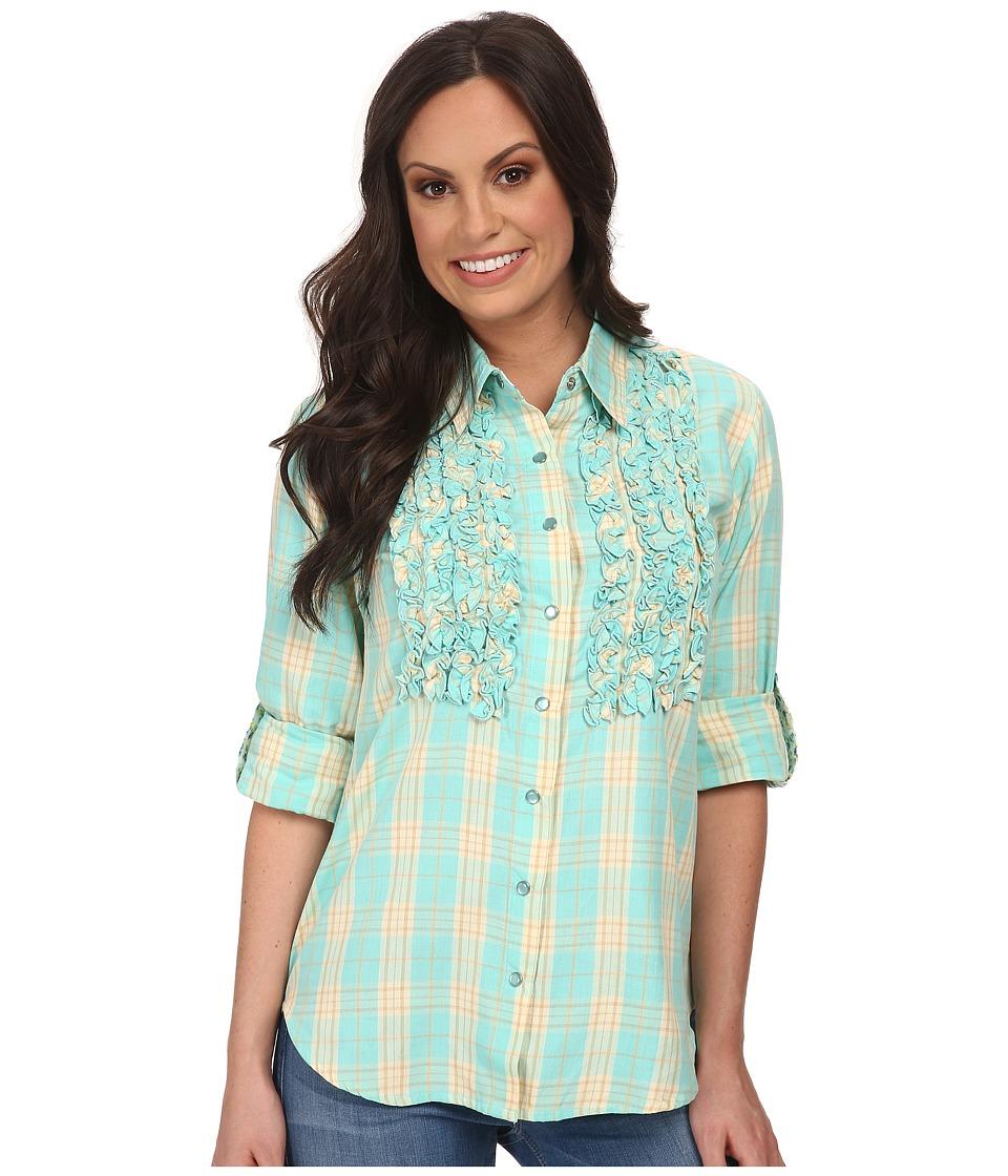 Tasha Polizzi - Plaid Settler Shirt (Blue) Women's Long Sleeve Button Up