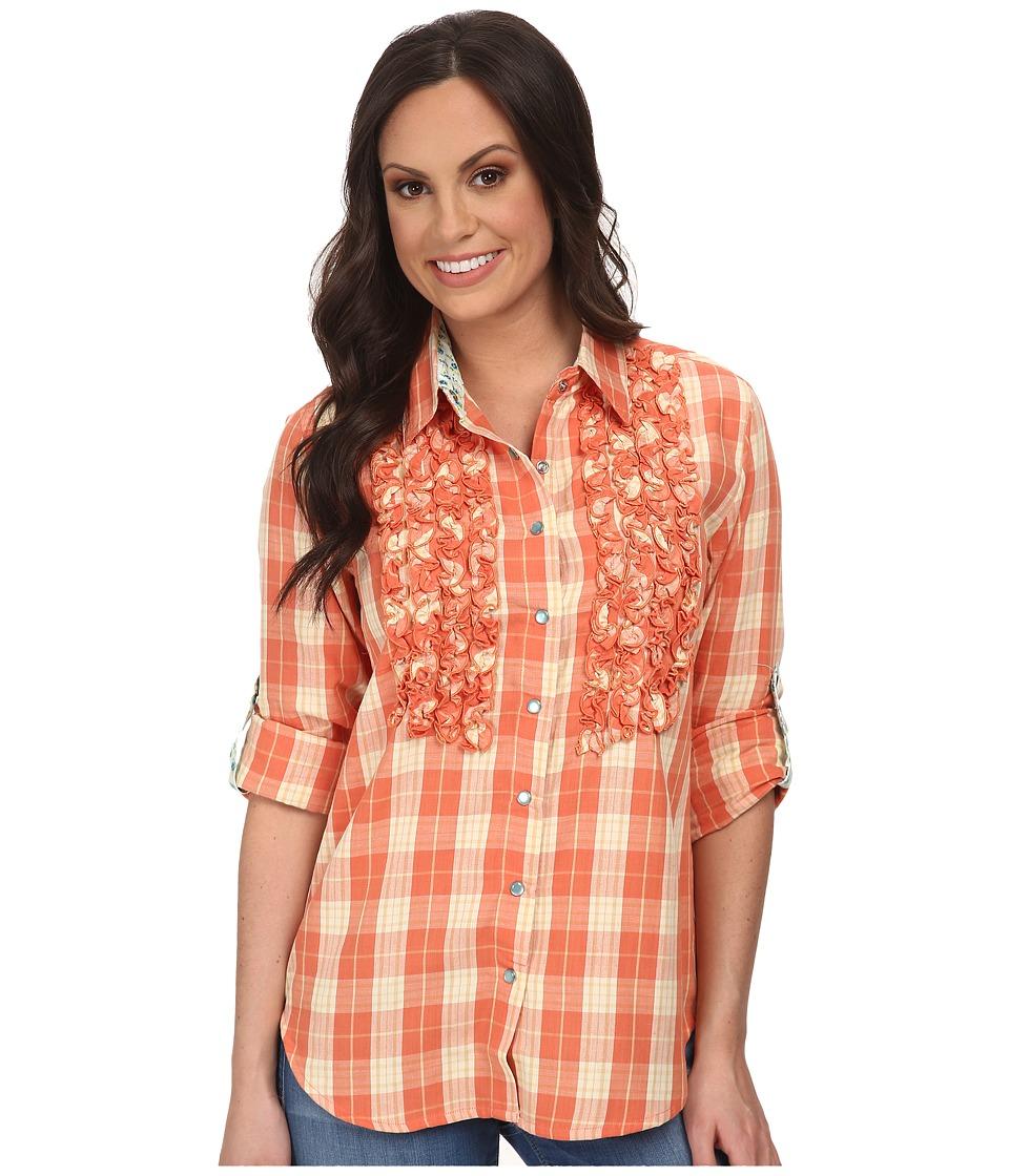 Tasha Polizzi - Plaid Settler Shirt (Pink) Women's Long Sleeve Button Up