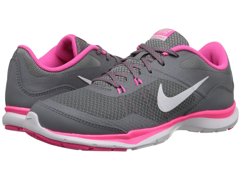 Nike - Flex Trainer 5 (Cool Grey/Lava Glow/Dark Grey/White) Women's Cross Training Shoes