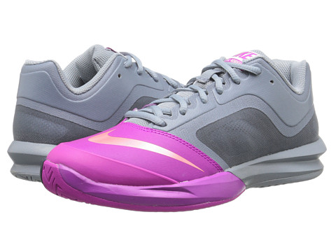 Nike - DF Ballistec Advantage (Dove Grey/Fuchsia Flash/Classic Charcoal/Hot Lava) Women's Tennis Shoes