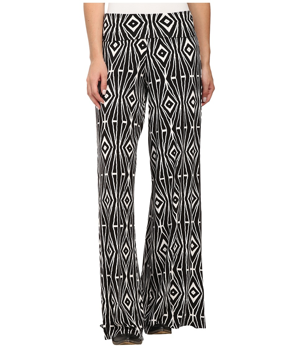 Stetson - Aztec Print Pant (Black) Women's Casual Pants