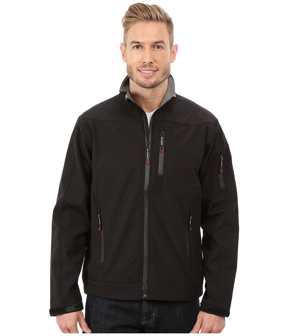 Roper - Solid Black Softshell Jacket (Black) Men