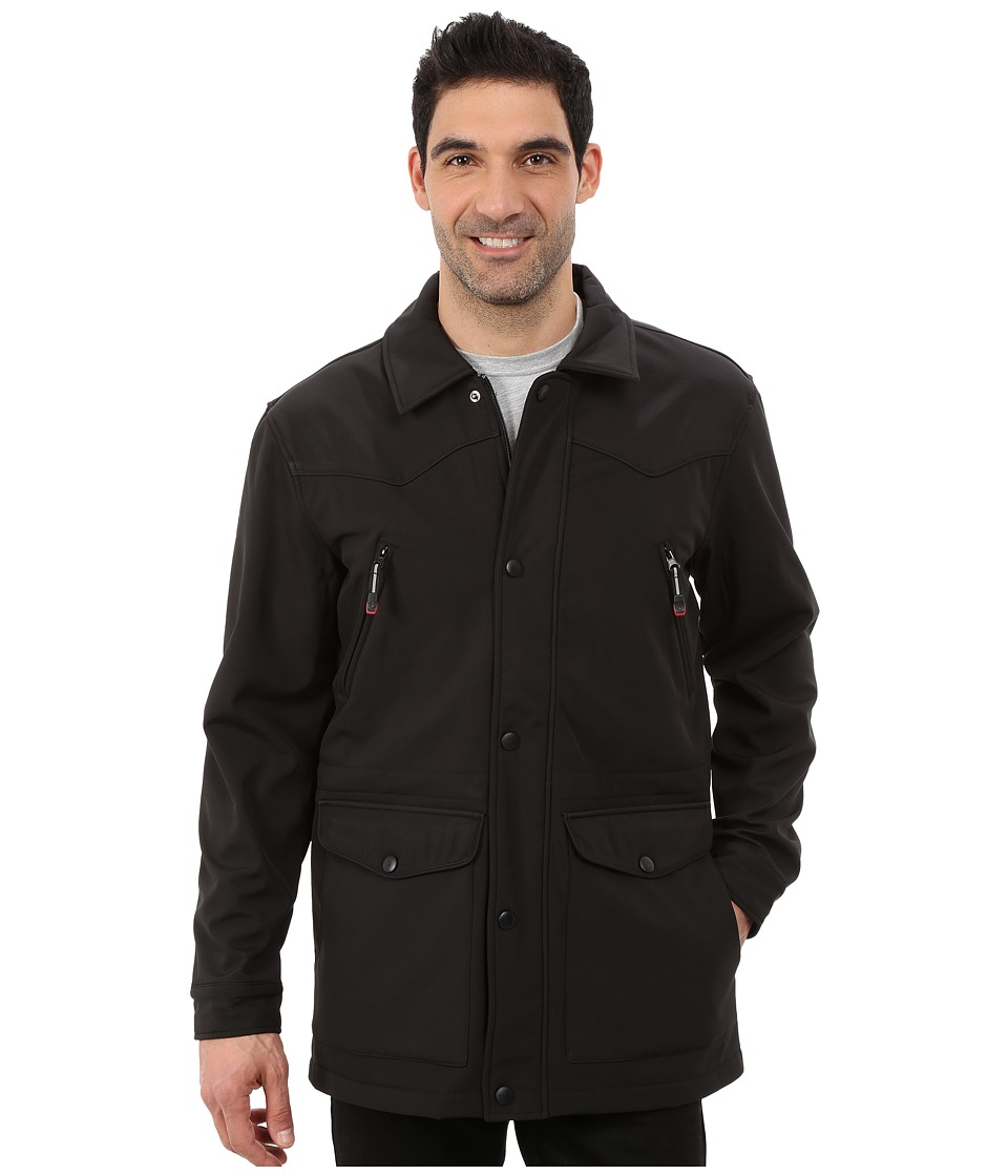 Roper - Solid Black Softshell Barn Jacket (Black) Men