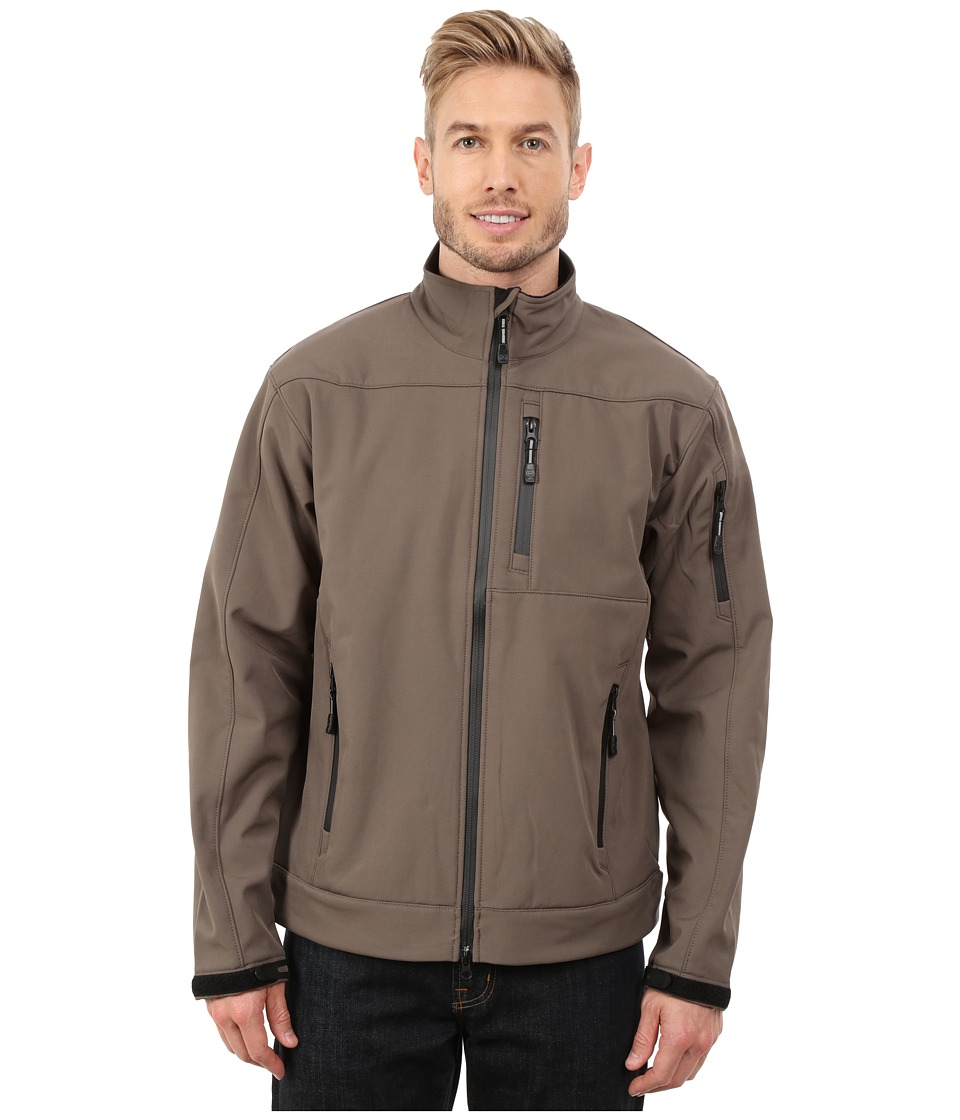 Roper - Solid Taupe Soft Shell Jacket (Brown) Men's Coat
