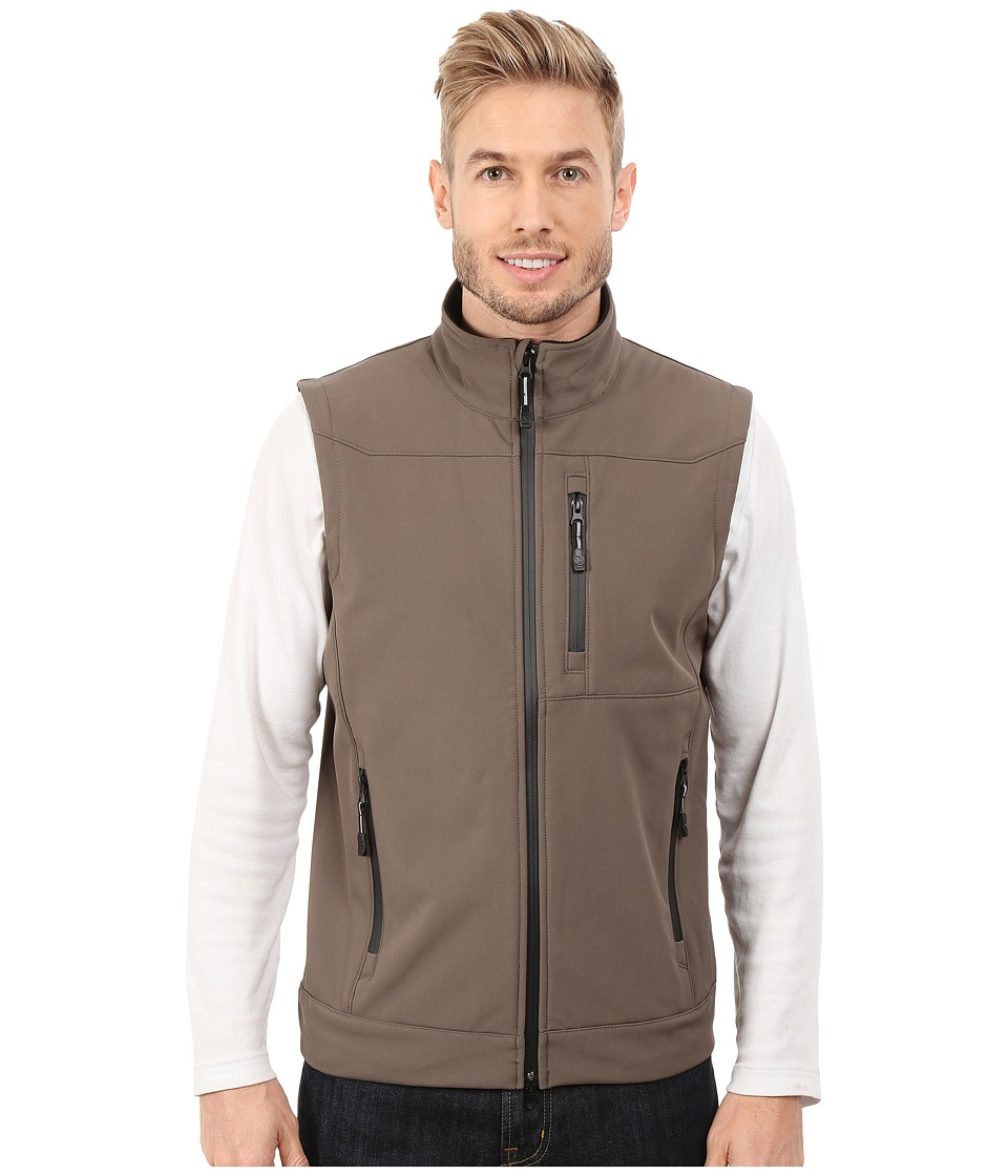 Roper - Solid Taupe Soft Shell Vest (Brown) Men's Vest
