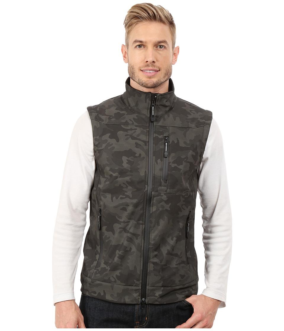 Roper - Printed Camo On Soft Shell Vest (Brown) Men's Vest