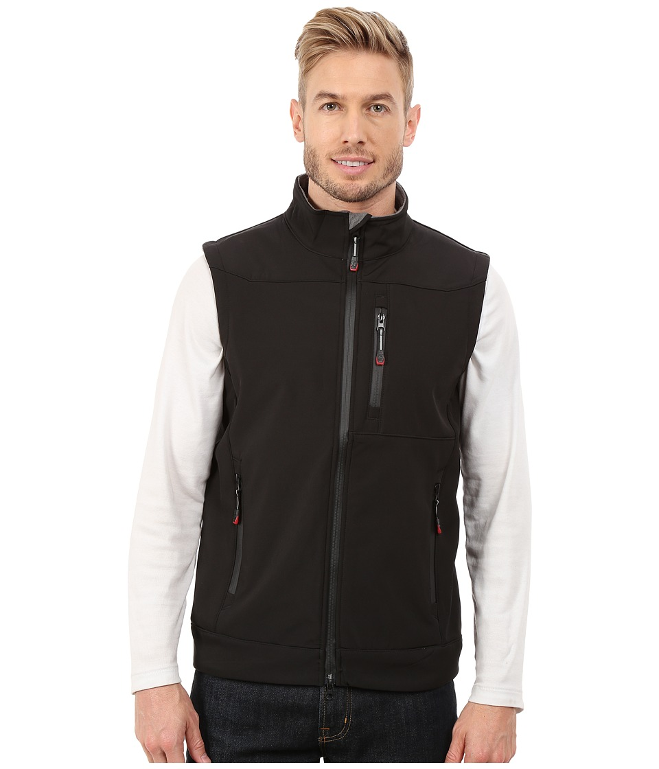 Roper - Solid Black Softshell Vest (Black) Men's Vest