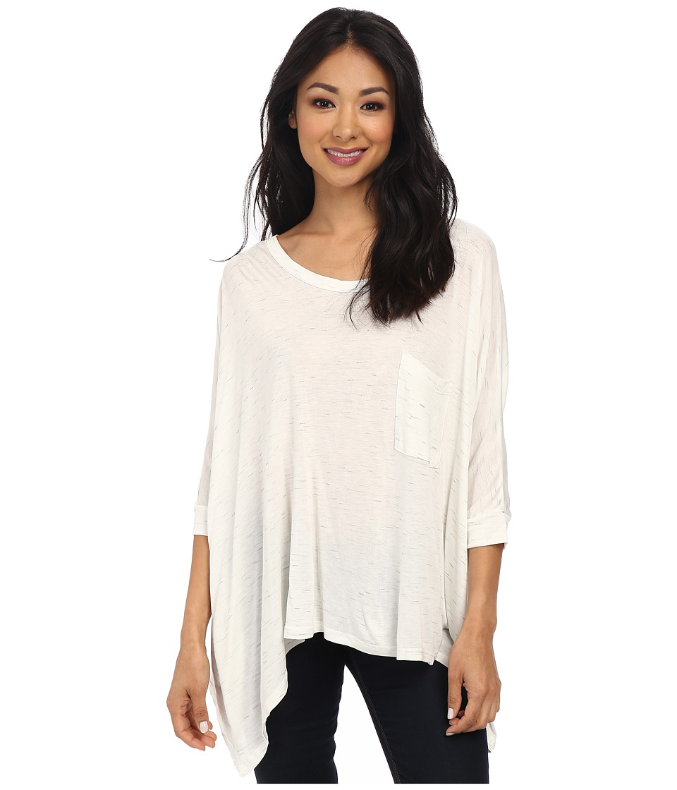 LNA - Pocket Cape Top (White Slub) Women
