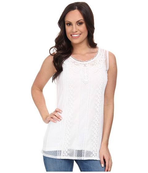 Tasha Polizzi - Lace Cami (White) Women's Sleeveless