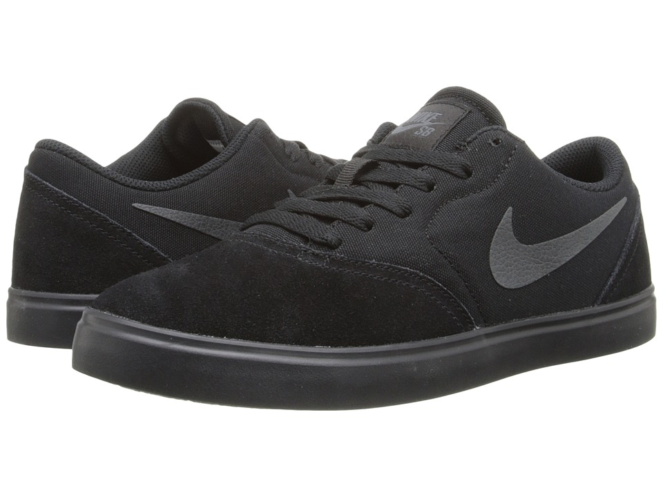 Nike SB Kids - SB Check (Big Kid) (Black/Anthracite) Boys Shoes