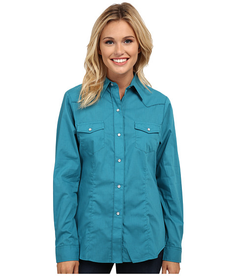 Roper - 9844C1 Solid Broadcloth - Jade (Green) Women's Clothing