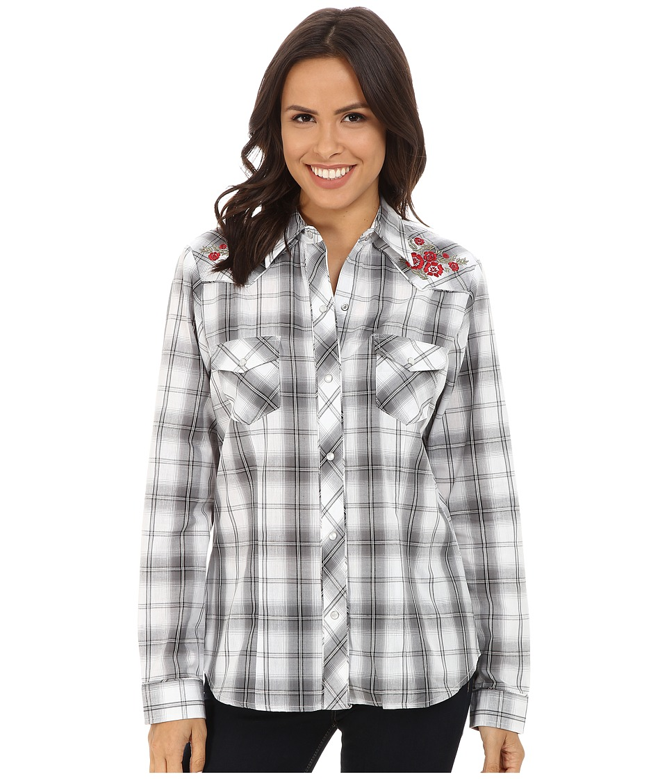 Roper - 9747 Black, Grey White Plaid (Black) Women's Clothing