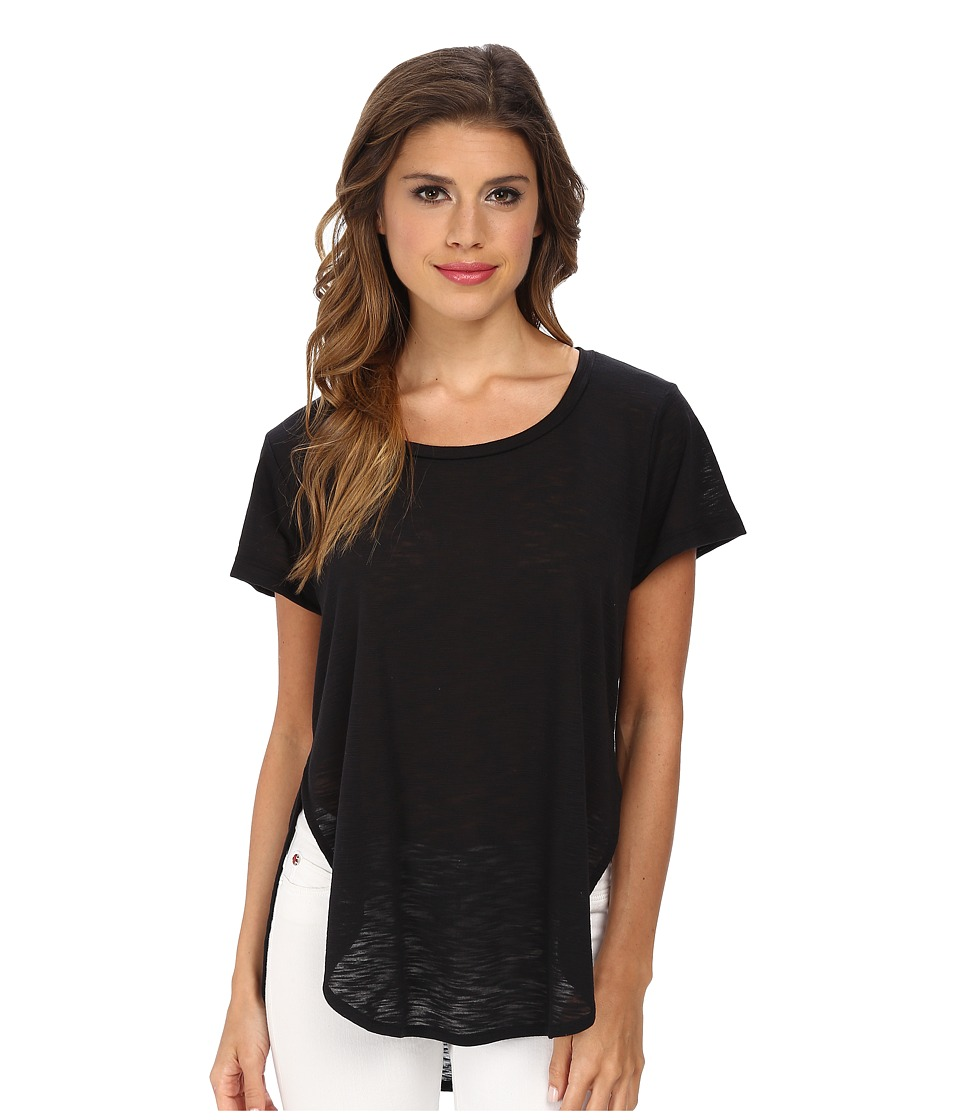 LNA - Curved Crew (Black) Women