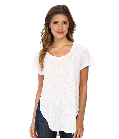 LNA - Curved Crew (White) Women's Clothing