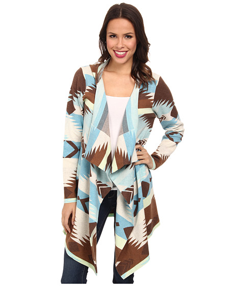 Tasha Polizzi - Blanket Cardigan (Blue) Women's Sweater
