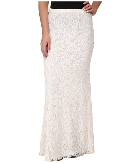 Tasha Polizzi - Lace Maxi Skirt (Cream) Women's Skirt