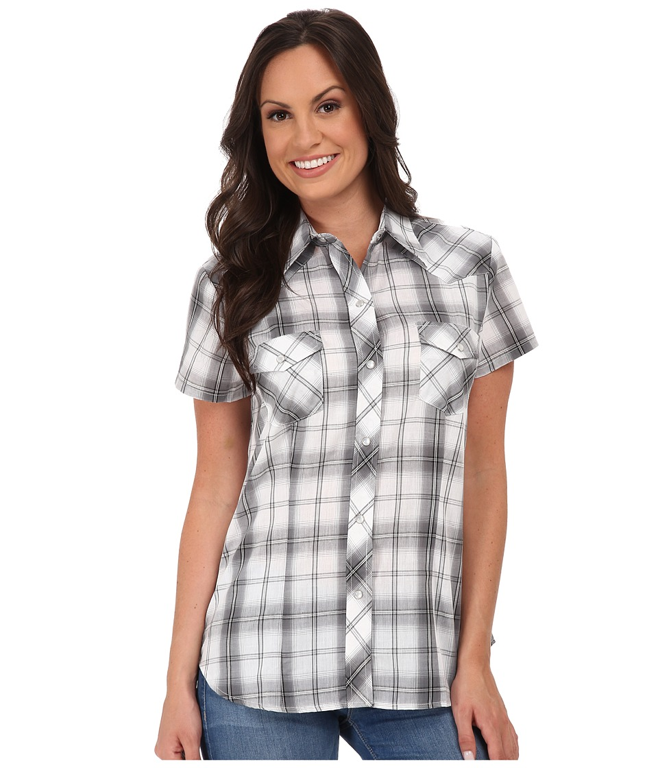 Roper - 9747 Black, Grey, White Plaid (Black) Women's Clothing