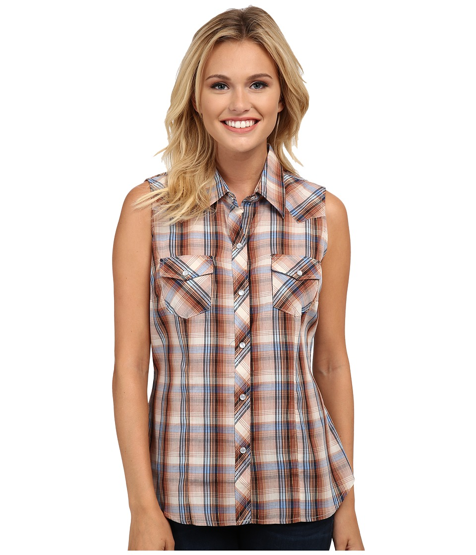 Roper - 9742 Multi Brown Plaid w/ Lurex (Brown) Women