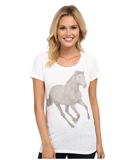 Roper - 9788 Lt. Wt. Cotton Poly Slub Jersey Tee (White) Women