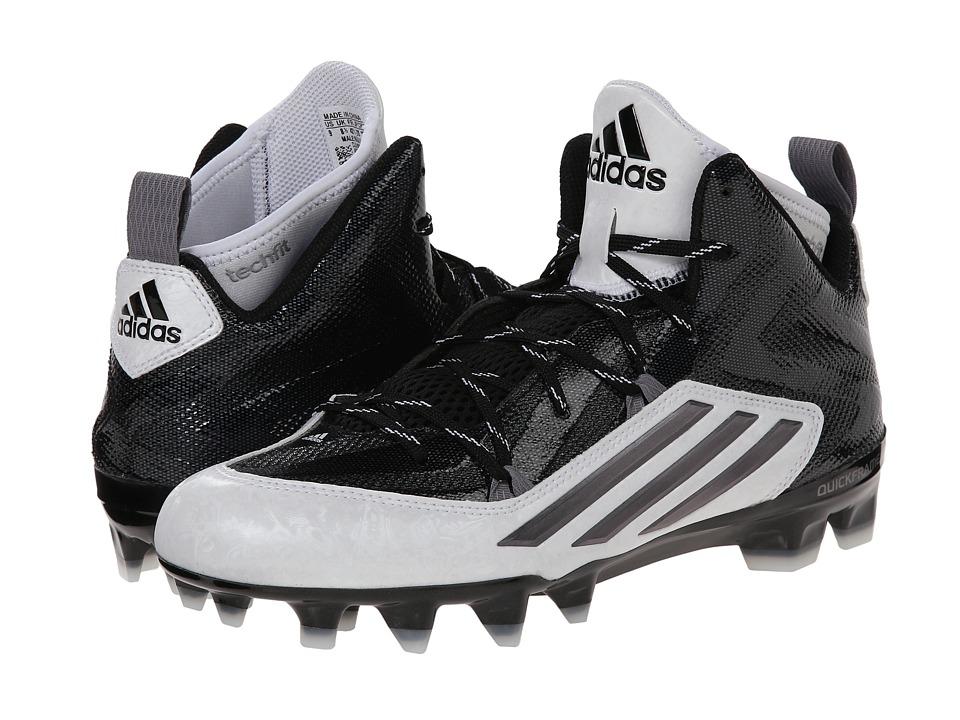 adidas - Crazyquick 2.0 Mid (Black/Titanium/White) Men's Cleated Shoes