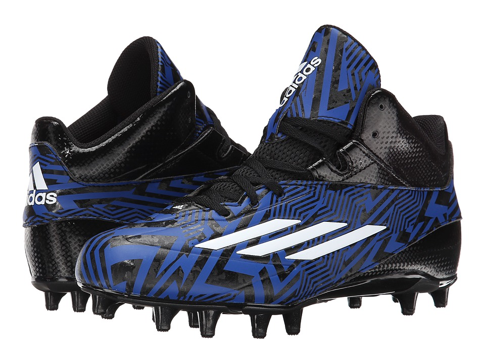 adidas - Filthyspeed 2.0 Mid Fly (Black/White/Collegiate Royal) Men's Cleated Shoes