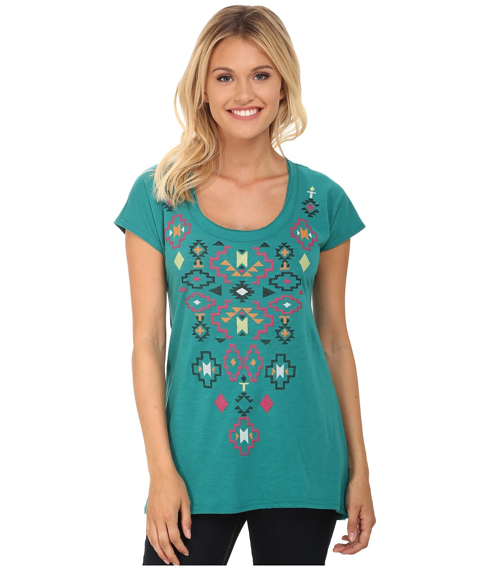 Roper - 9788 Lt. Wt. Cotton Poly Slub Jersey Tee (Green) Women