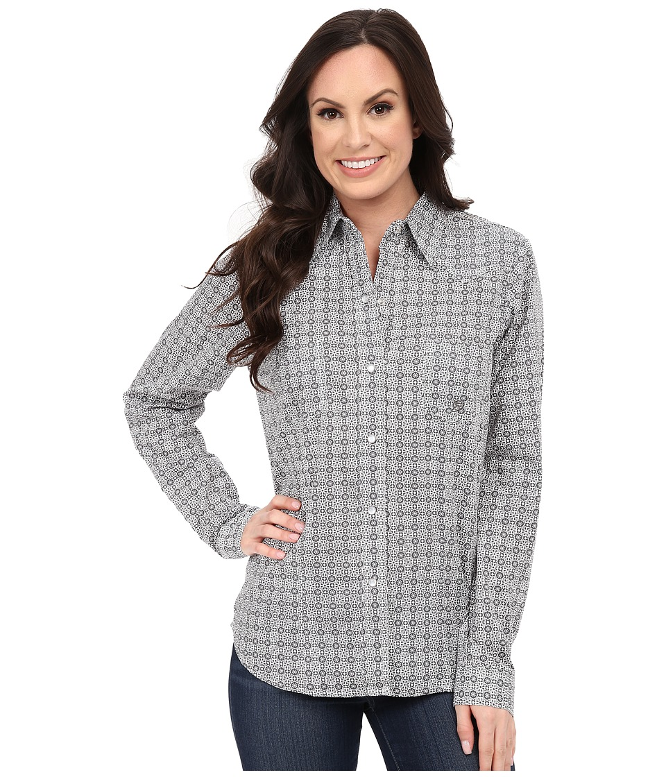 Roper - 9766 Decco Geo (Black) Women's Long Sleeve Button Up