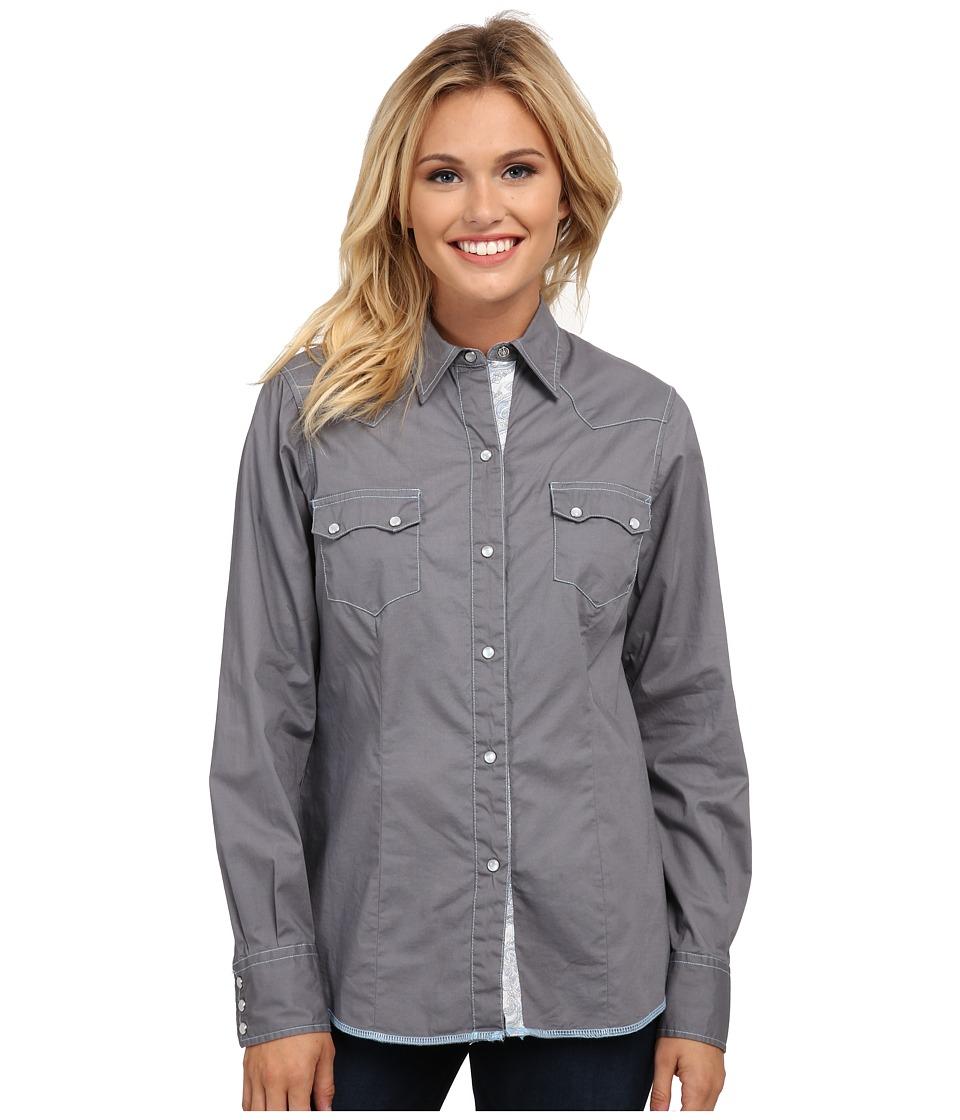 Roper - 9810C1 Solid Gray Poplin (Grey) Women's Clothing