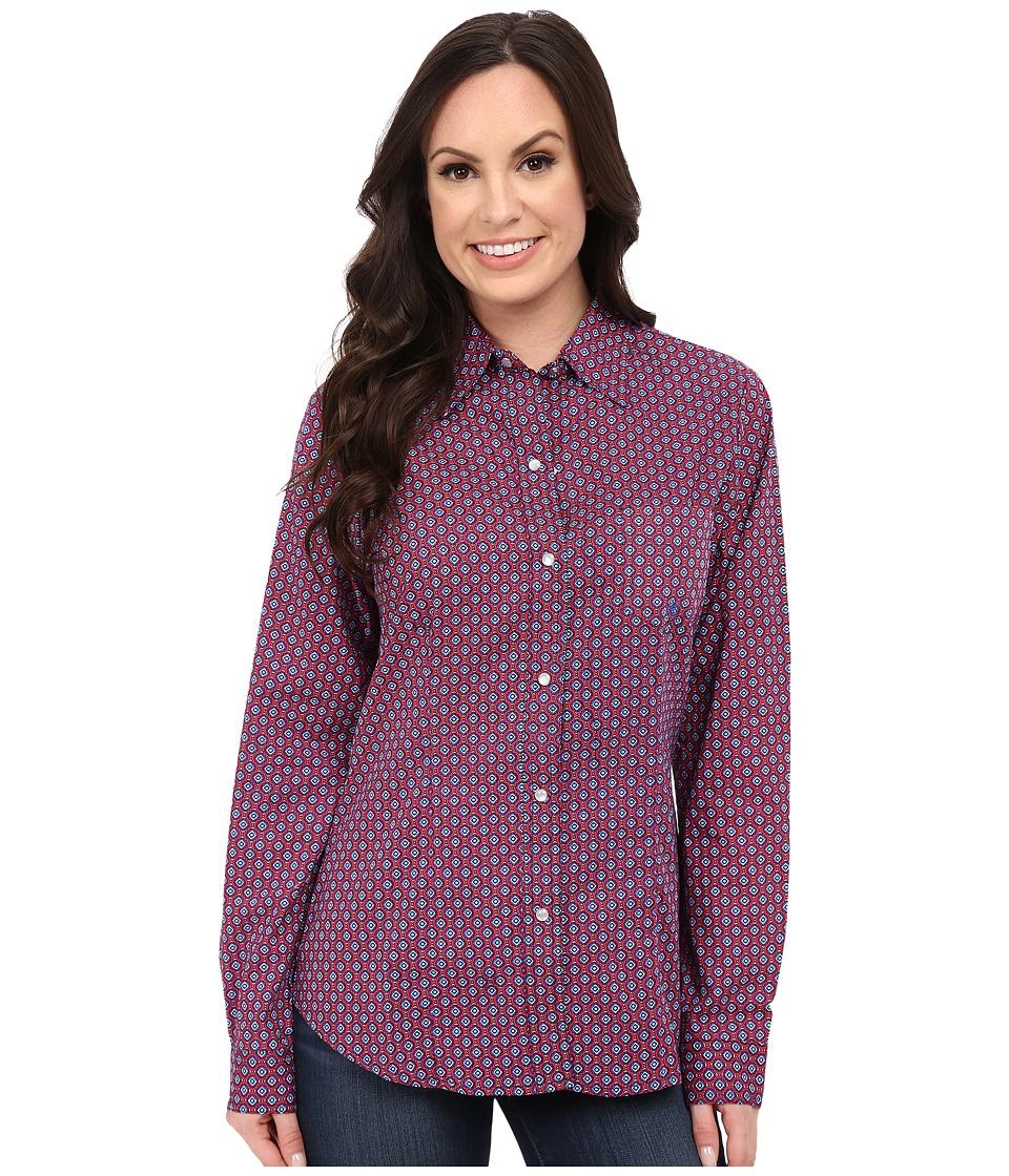 Roper - 9769 Patriot Foulard (Red) Women's Long Sleeve Button Up