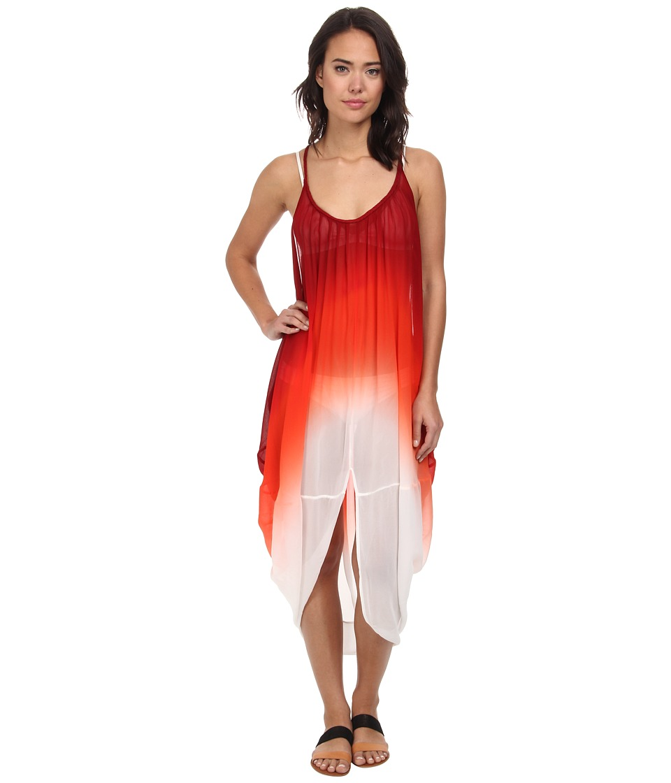 Young Fabulous & Broke - Lynn Dress (Red Orange) Women's Dress
