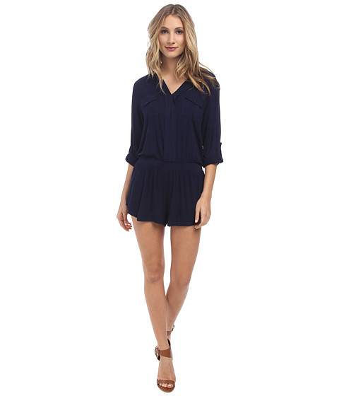 Young Fabulous & Broke - Malik Romper (Navy) Women's Jumpsuit & Rompers One Piece