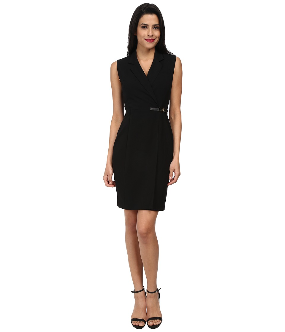 Calvin Klein - Lux Sheath with Side Metal Hardware CD4X1262 (Black) Women