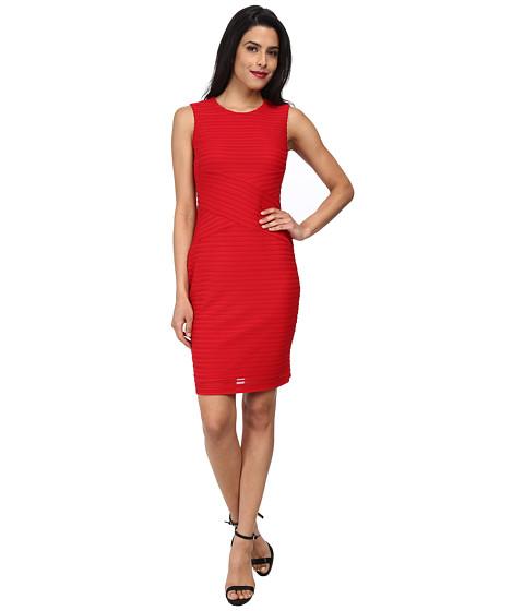 Calvin Klein - Novelty Matte Jersey Dress (Red) Women's Dress