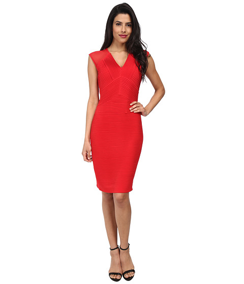 Calvin Klein - Cocktail with Illusion Cap Sleeve CD4B1G18 (Red) Women
