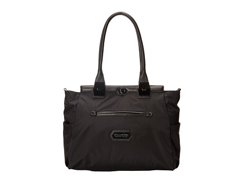 petunia pickle bottom - Nylon Caf Carryall (Black Chai Tea Cake) Diaper Bags