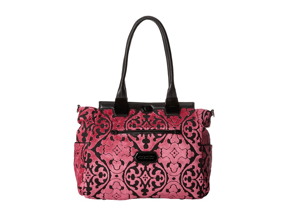 petunia pickle bottom - Cut-Velvet Caf Carryall (Dragonfruit Cake) Diaper Bags