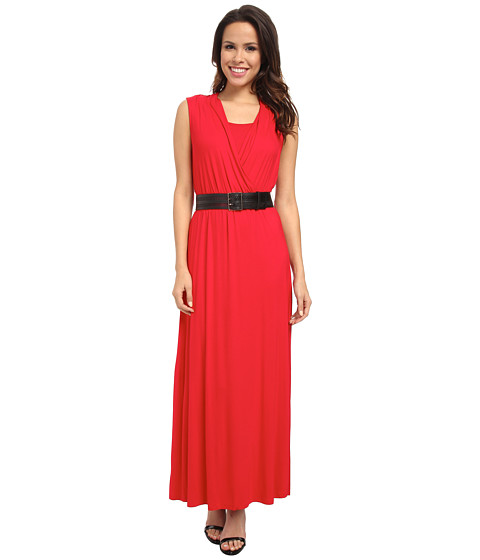 Calvin Klein - Rayon Span Maxi CD4N15A7 (Red) Women's Dress