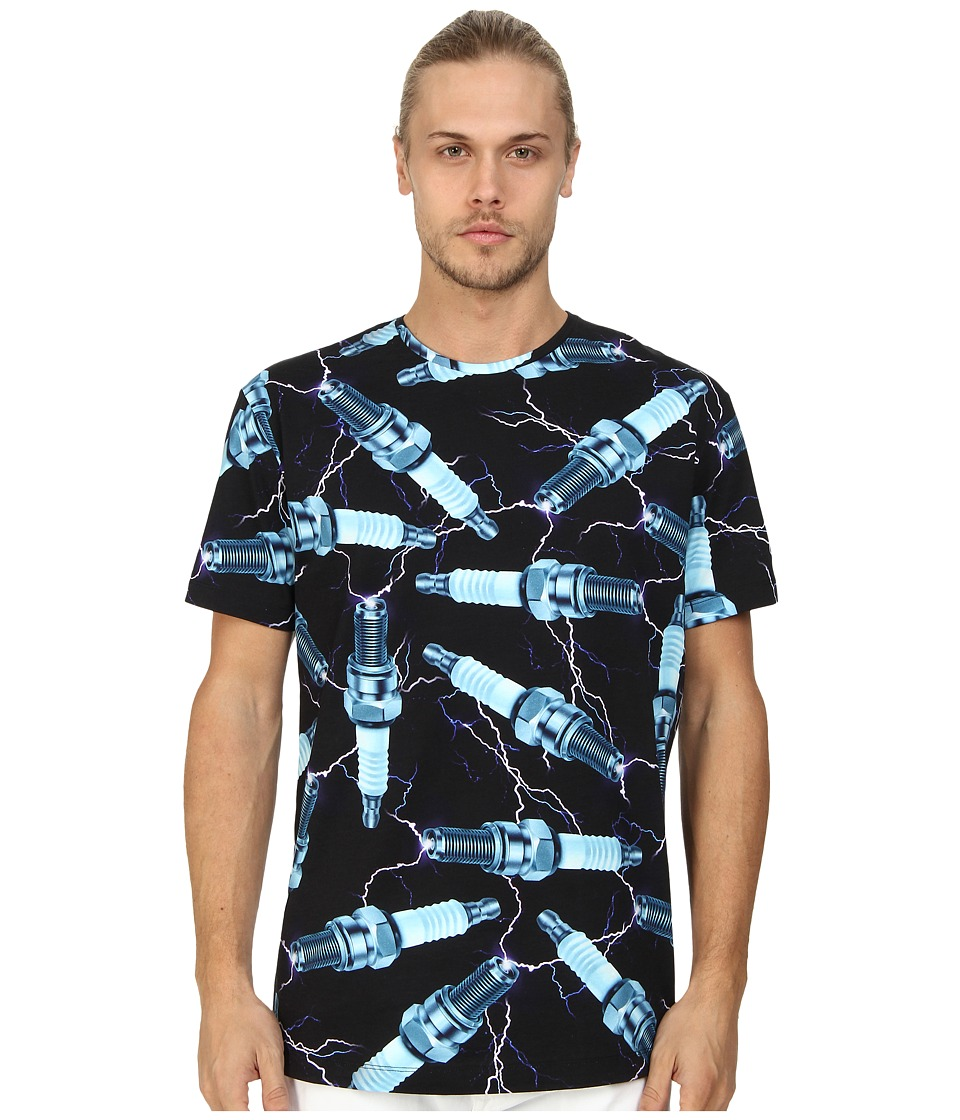 LOVE Moschino - All Over Bolt Print T-Shirt (Multi) Men's T Shirt