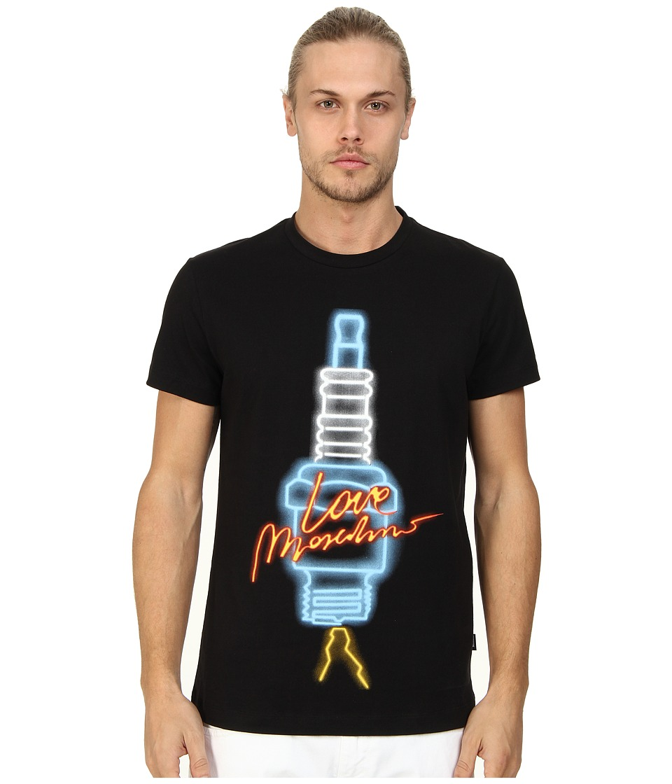 LOVE Moschino - Bolt Print T-Shirt (Black) Men's T Shirt