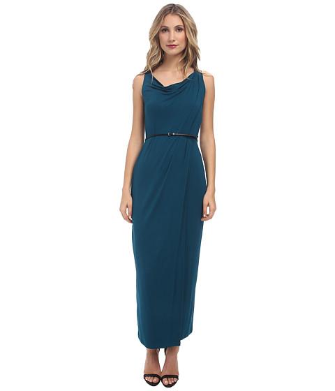 Calvin Klein - Rayon Span Maxi with PU CD4N1394 (Cypress/Black) Women's Dress