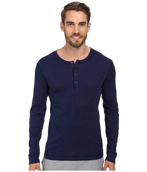 BOSS Hugo Boss - L/S Shirt Button Pullover Original (Navy) Men's Long Sleeve Button Up