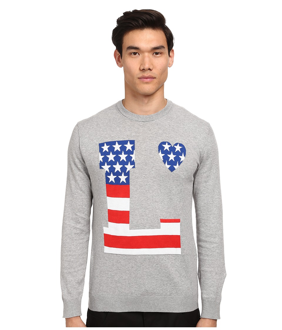 LOVE Moschino - Love Sweater (Gray) Men's Sweater