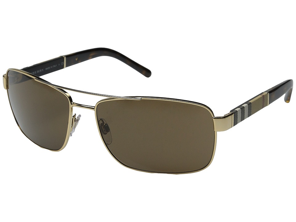 Burberry - 0BE3081 (Gold/Brown) Fashion Sunglasses