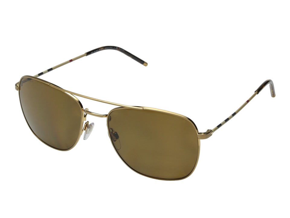 Burberry - 0BE3079 (Gold/Polar Brown) Fashion Sunglasses