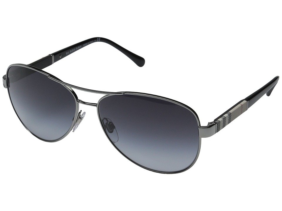 Burberry - 0BE3081 (Gunmetal/Grey) Fashion Sunglasses