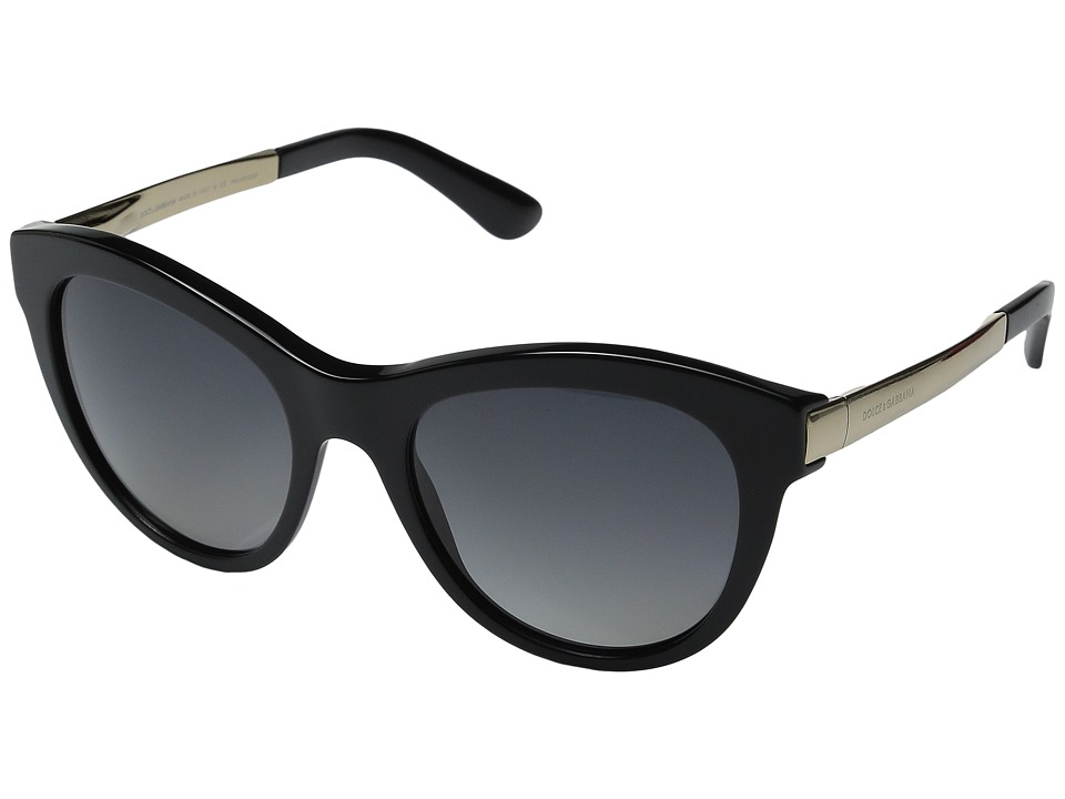 Dolce & Gabbana - 0DG4243 (Black/Polarized Grey Gradient) Fashion Sunglasses